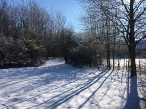 Kanusegel Campus im Schneekleid